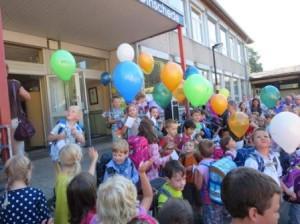 Vor dem Luftballonstart